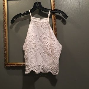 Abercrombie & Fitch lace crop top